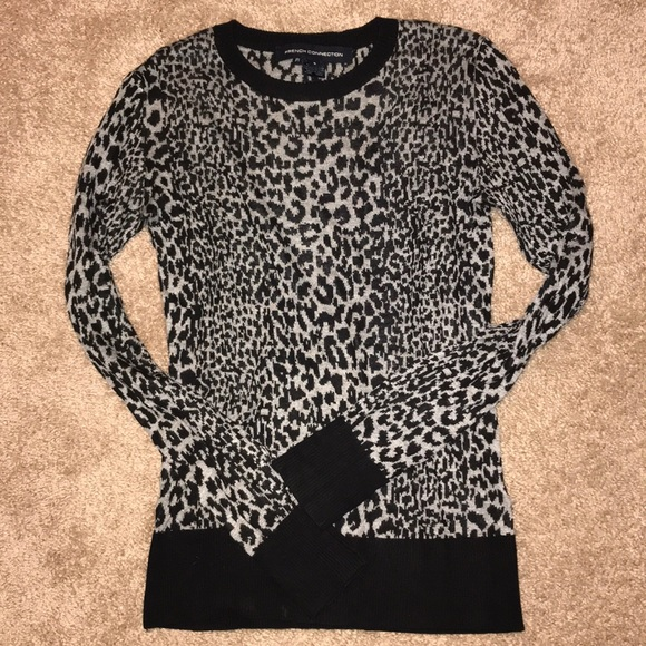 French Connection Sweaters - French Connection leopard sweater